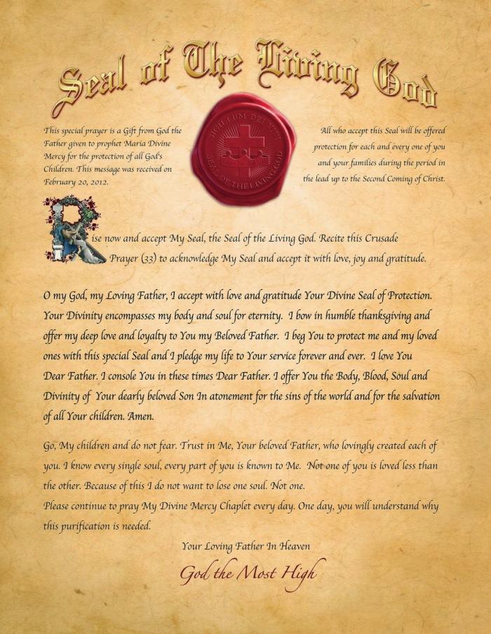 Seal of the Living God - English