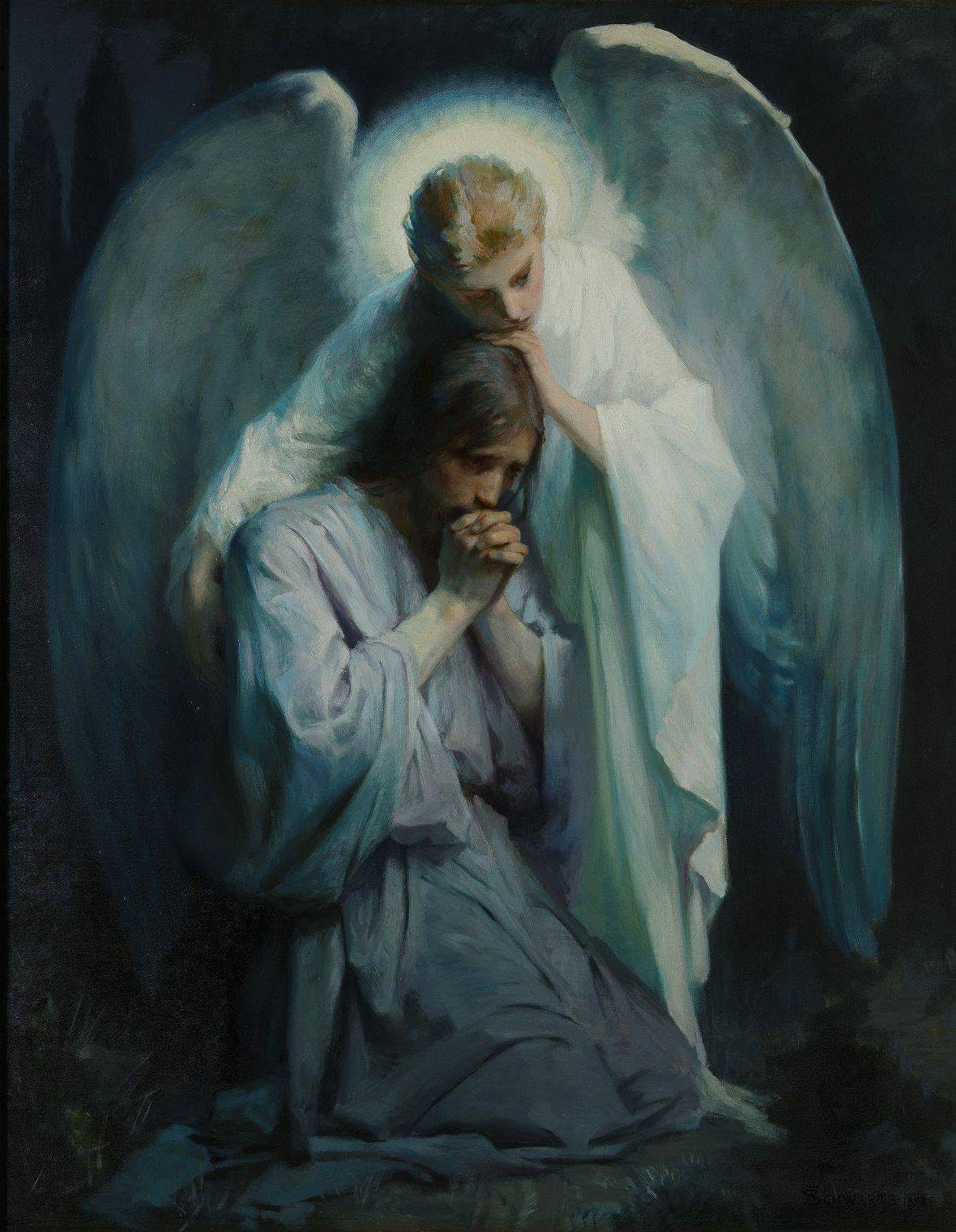 angel consoling Jesus